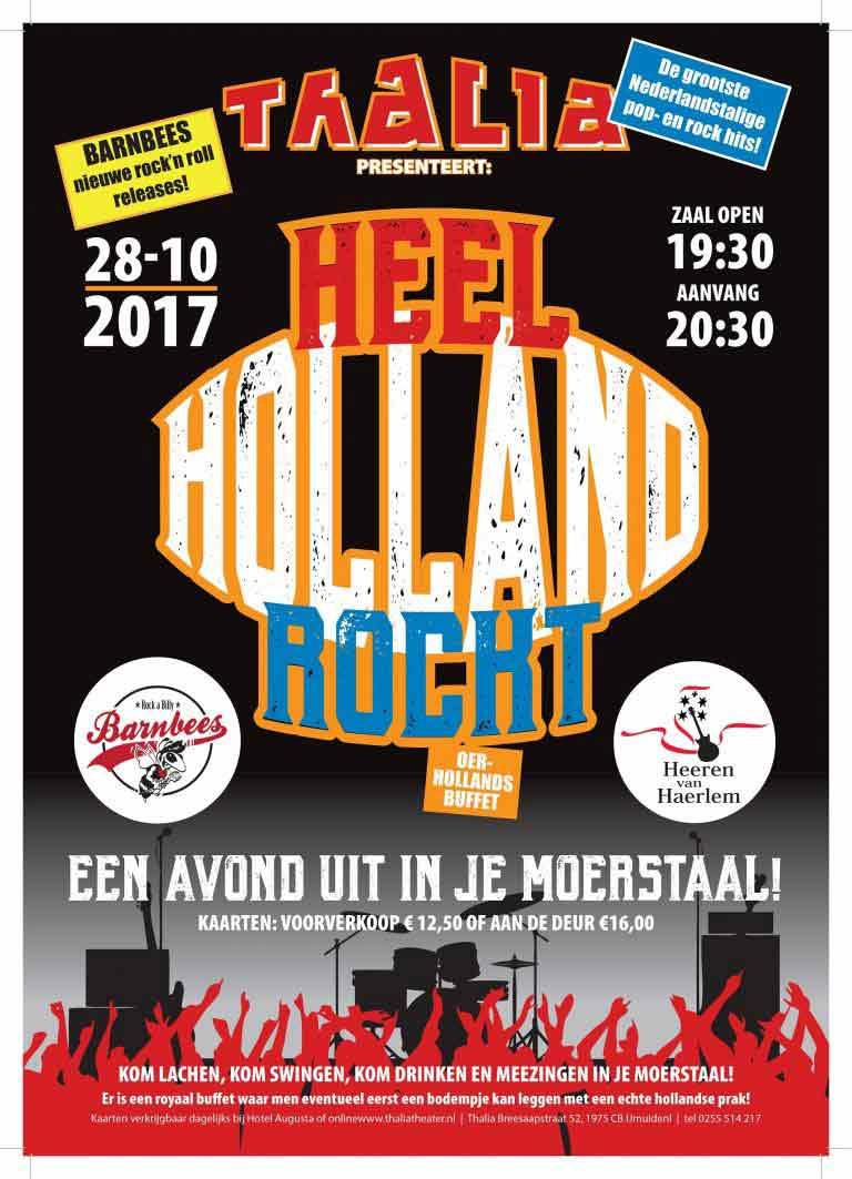 Thalia Theater presenteert 28 oktober Heel Holland Rockt!