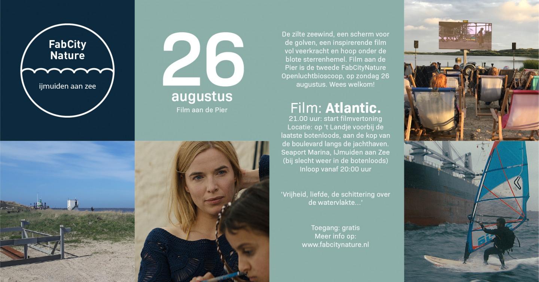 Film aan de Pier openluchtbioscoop van FabCityNature